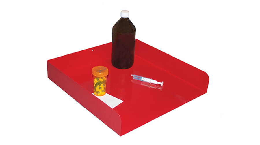 Medication preparation and processing tray