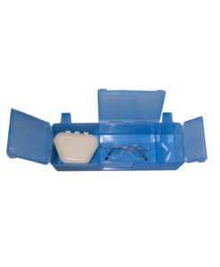 Duable Personal Belongings Case protecting eyeglasses, dentures and hearing aids.