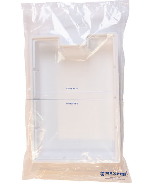 White and see through crash cart drug tray security small tear bag | Maxpert Medical