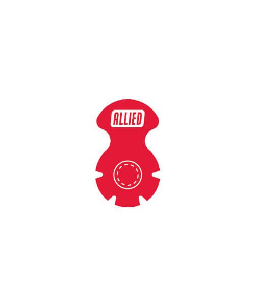 Red 13mm vial seal | Maxpert Medical