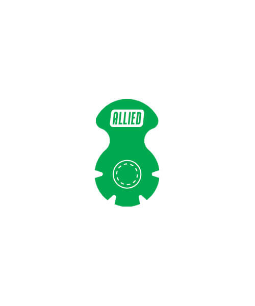Green belly button bag port seal | Maxpert Medical