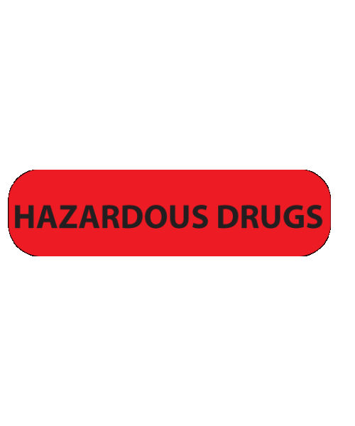 Red Hazardous Drugs Label