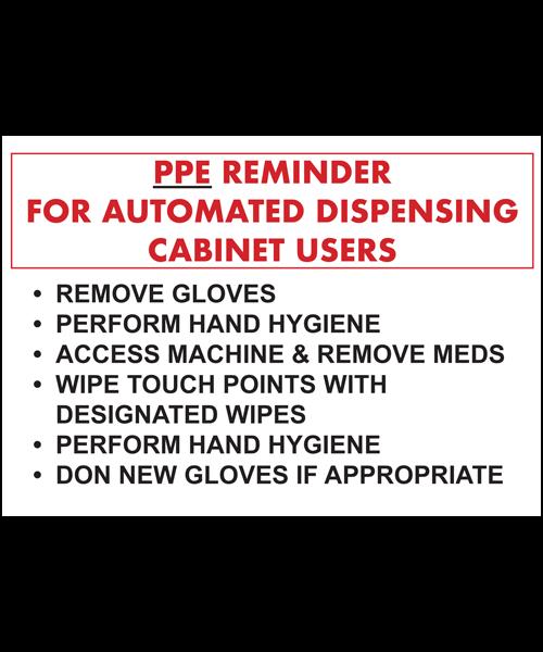 PPE Reminder sign | Maxpert Medical